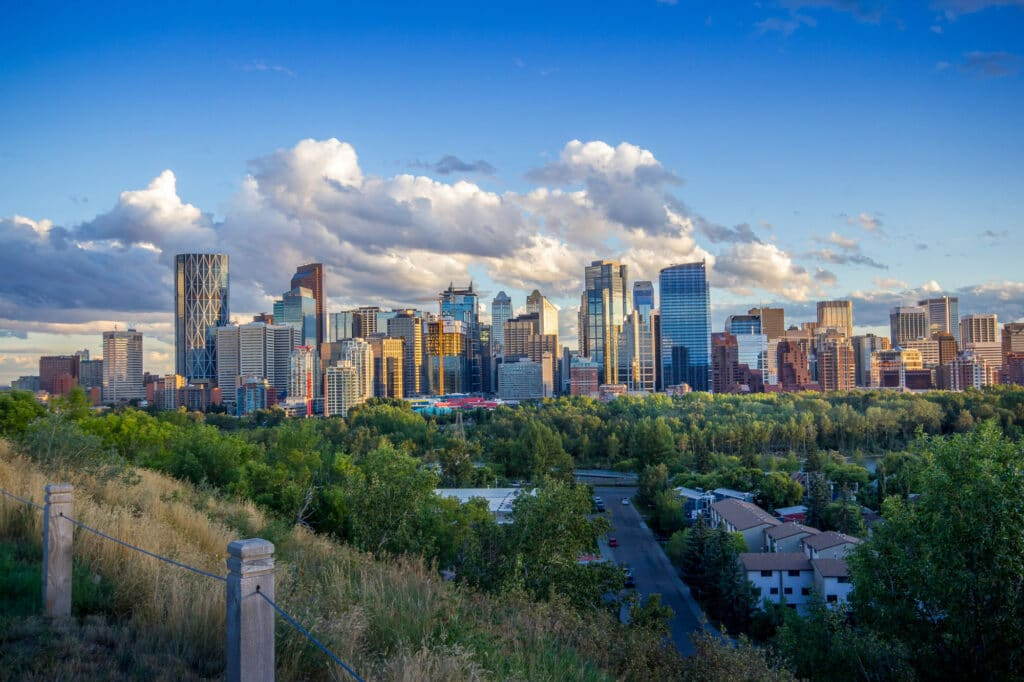 Calgary Alberta city view